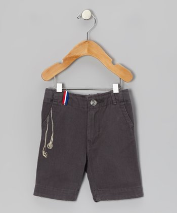Charcoal Earphone Shorts - Infant & Kids