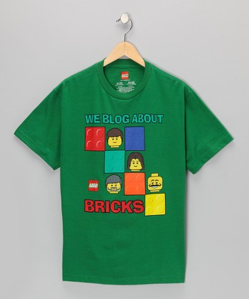 Green LEGO 'We Blog About Bricks' Tee - Kids