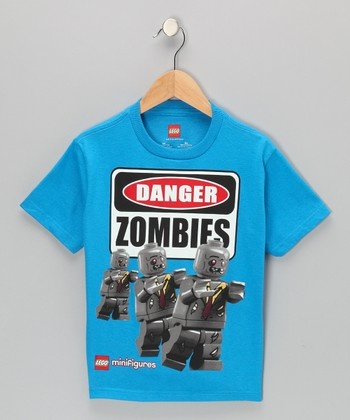 Blue LEGO Minifigures 'Danger Zombies' Tee - Kids
