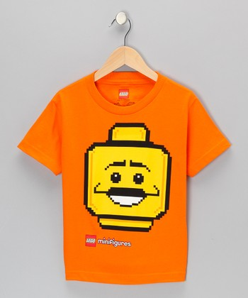 Orange LEGO Minifigures Block Head Tee - Kids
