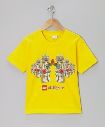 Yellow Robots LEGO Minifigures Tee - Kids