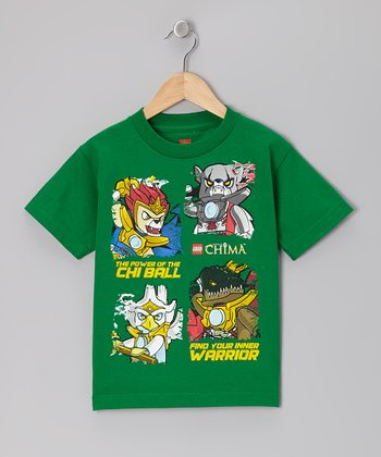 Green Character Shot Legends of Chima Tee - Kids