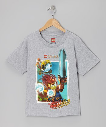 Gray 'Charge' Legends of Chima Tee - Kids