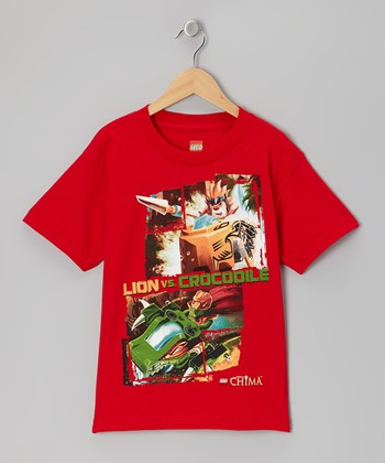 Red 'Lion vs. Crocodile' Legends of Chima Tee - Kids