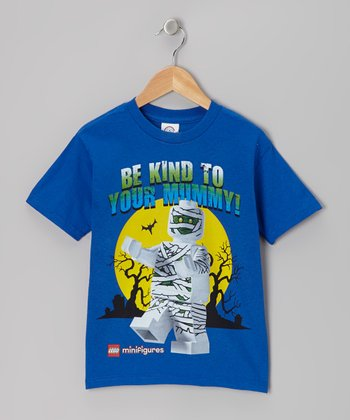 Blue 'Be Kind to Your Mummy' LEGO Minifigures Tee - Kids
