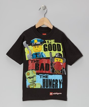 Black 'The Good' LEGO Tee - Kids