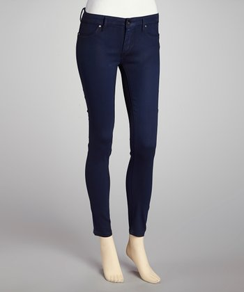 Blue Royal Pain Coated Skinny Jeans