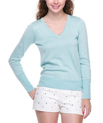 Mint Basic V-Neck Sweater