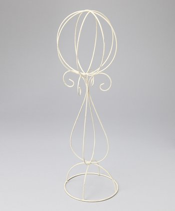 White Wire Hat Stand