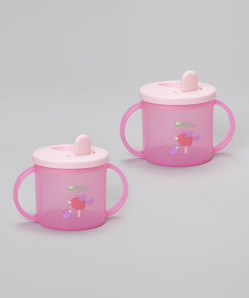 Pink 6.5-Oz. Sippy Cup - Set of Two