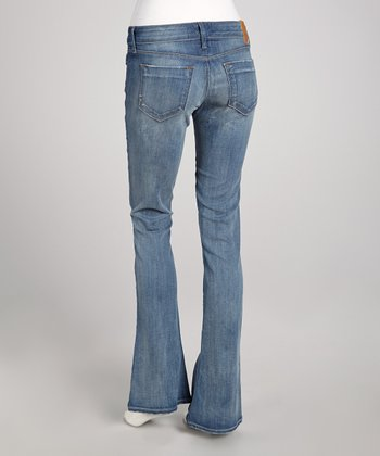 Mortimer Blue Low-Rise Shea Flare Jeans