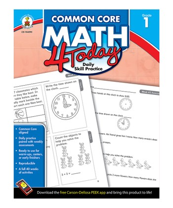 Common Core Math 4 Today: Grade 1 Workbook