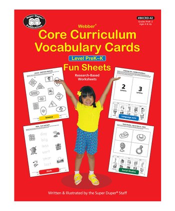 Webber Core Curriculum Vocabulary Cards Fun Sheets: Level Pre-K
