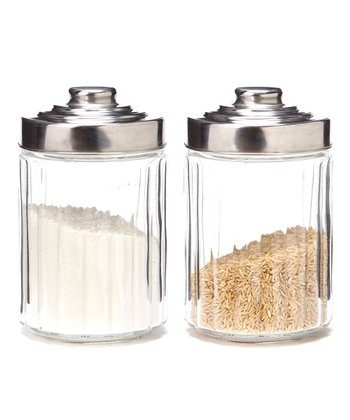 Small 38-Oz. Round Canister - Set of Two
