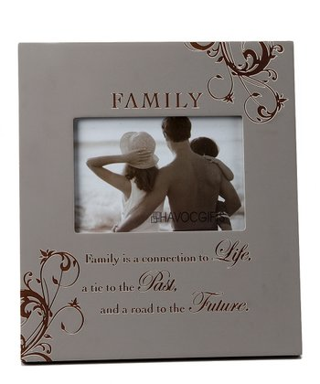 Silver 'Family' Engraved Frame