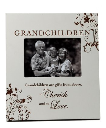 Gray 'Grandchildren' Engraved Frame