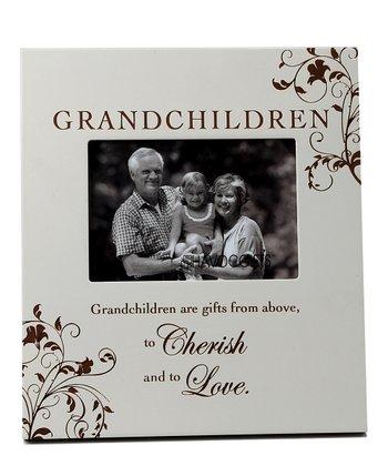 Havoc Gifts Gray 'Grandchildren' Engraved Frame