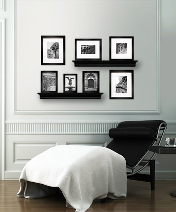 Black Shelf & Picture Frame Set