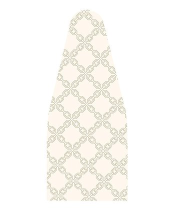 White & Gray Chain Isaac Mizrahi Ironing Board Cover