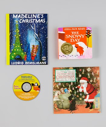 Madeline, The Snowy Day & Night Before Christmas Book Set