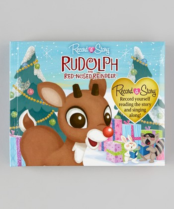 Rudolph the Red-Nosed Reindeer Record-a-Story Padded Hardcover