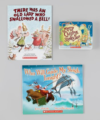 Merry Christmas, Stinky Face Board Book & Paperback Set
