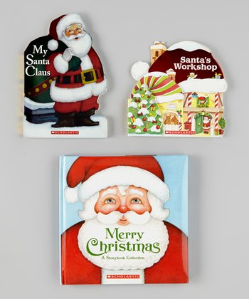 Santa's Workshop Board Book & Padded Hardcover Set