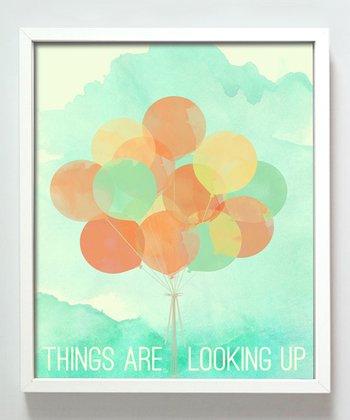 Orange Balloon Print