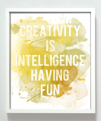 Yellow 'Creativity' Print