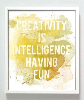 Yellow 'Creativity' Print