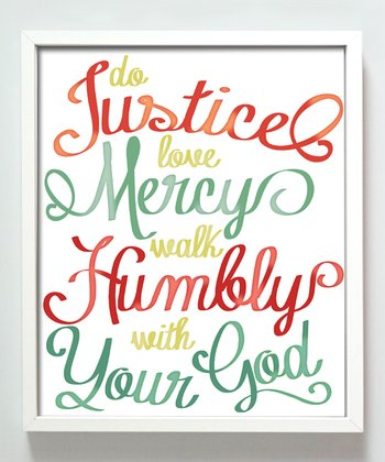 Primary Color 'Do Justice' Print