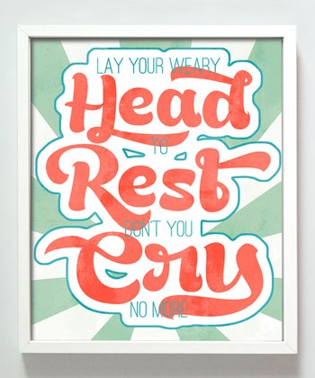 Coral & Mint 'Don't You Cry No More' Print