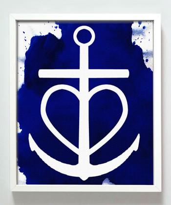 Blue Heart Anchor Print