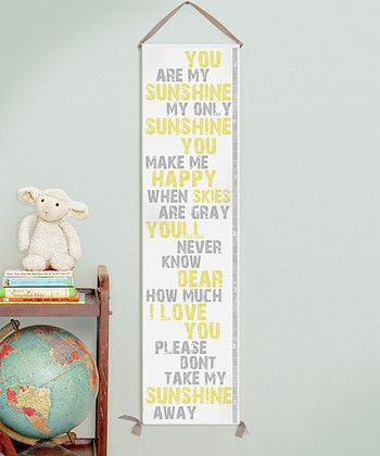 'You Are My Sunshine' Canvas Growth Chart