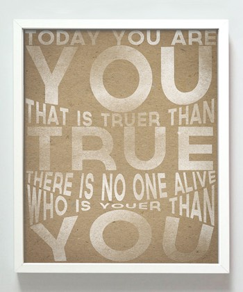 'Youer Than You' Print