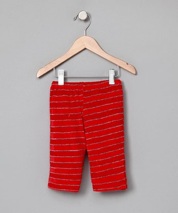 Red Organic Terry Pants - Infant
