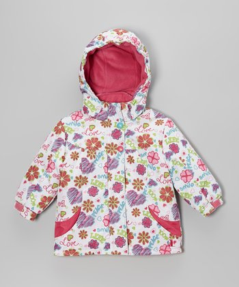 White Flower Snow Jacket - Infant
