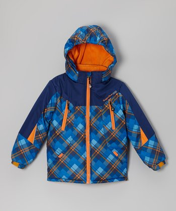 Royal Plaid Snow Jacket - Infant & Boys
