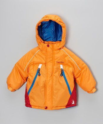 Orange & Blue Snow Jacket - Infant, Toddler & Boys