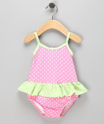 Strawberry Skirted Swim Sunsuit - Infant &Toddler