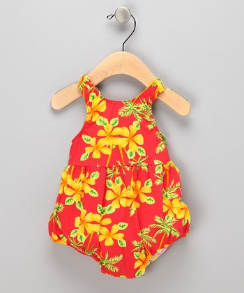Orange Tropical Bubble Swim Sunsuit - Infant & Toddler