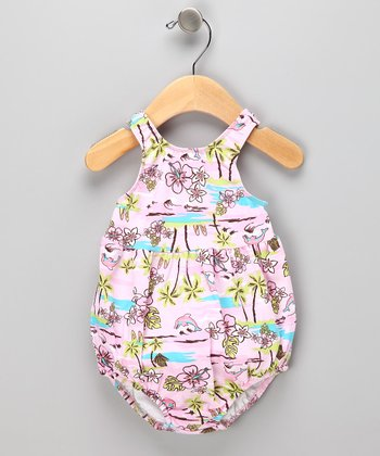 Light Pink Beach Bubble Swim Sunsuit - Infant