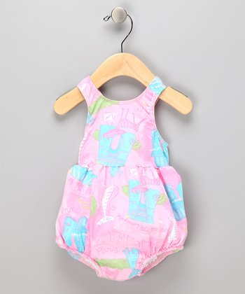 Pink Paris Bubble Swim Sunsuit - Infant & Toddler