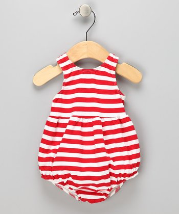 Red Stripe Bubble Swim Sunsuit - Infant & Toddler
