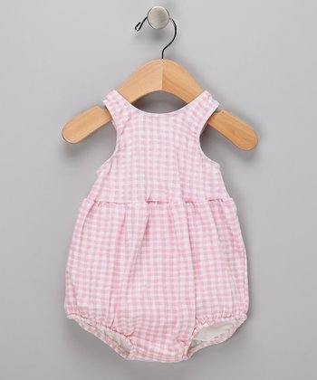 Pink Gingham Bubble Swim Sunsuit - Infant & Toddler