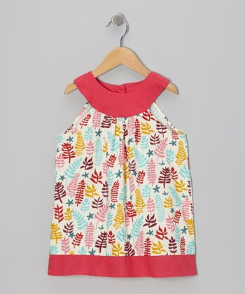 Pink Fern Yoke Dress - Toddler & Girls