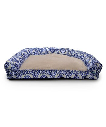 Indigo Luminary Bolster Dog Bed