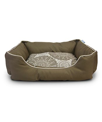 Green Sundial Lining Box Dog Bed