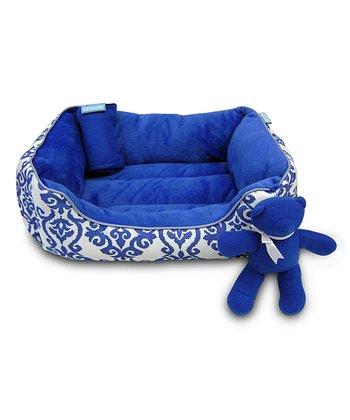 Indigo Dog Bed Set