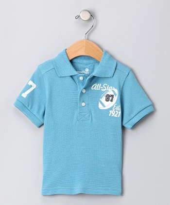 Health Tex Blue Football Polo - Infant, Toddler & Boys